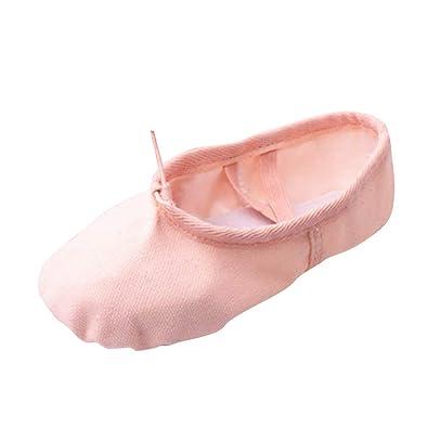 746633565c9ef Tenthree Ballet Classique Danse Chaussures Fille - Femme Toile Split Cuir  Semelle Plates Danse Chaussures Ballerines
