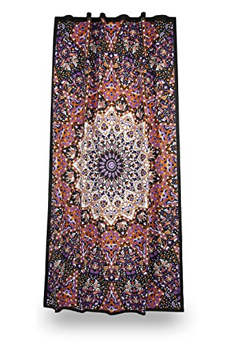 Sunshine Joy Glow In The Dark India Star Curtain Single Panel 56x85 Inches