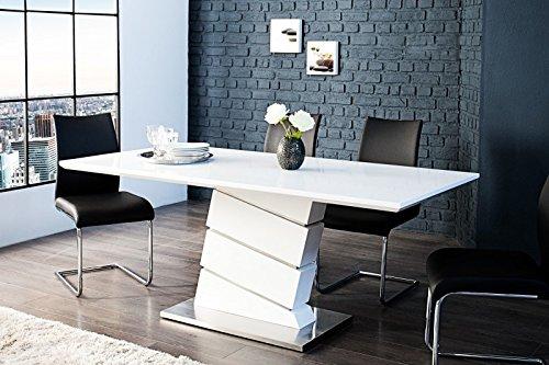 Moderner Yacht Design Esstisch Weiß Hochglanz 180 Cm Von Casa Padrino   Esszimmer  Tisch