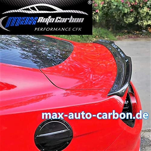 MAX AUTO CARBON Spoiler Heckspoiler Lippe Fl/ügel Wing passed f/ür Mustang ab 2015