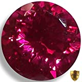 Lab Ruby Fine Red Round Brilliant Loose Unset Gem (6mm) click for more sizes