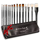 Maestro 15 Professional Artist Brushes with Portable Carry - Best Reviews Guide