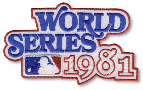 1981 MLB World Series Logo Jersey Patch Los Angeles Dodgers vs. New York Yankees