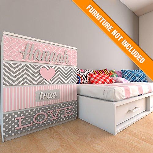True Love, Girl Nursery Decor, Kids Decor, Girl Nursery Art, Personalized Name, Fretwork Panels, Kids Bedroom Decor by Home Art Decor's shop