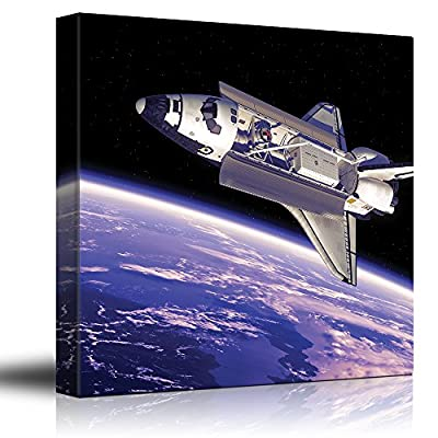 Rocketship in Outerspace with View to Planet Earth 12