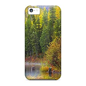 Series Skin Case Cover For Iphone 5c(misty Autumn Forest Lake)