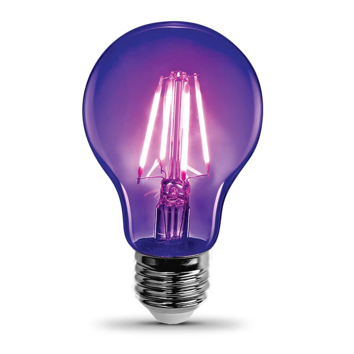 LED Blacklight, A-Shape, Filament, Party Bulb 18 Pk