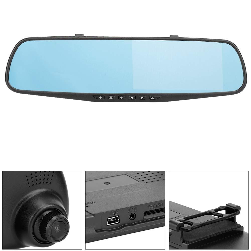 Grabadora de conducci/ón 4.3HD G-sensor Parte delantera y trasera del autom/óvil Grabaci/ón doble Espejo retrovisor C/ámara grabadora de conducci/ón