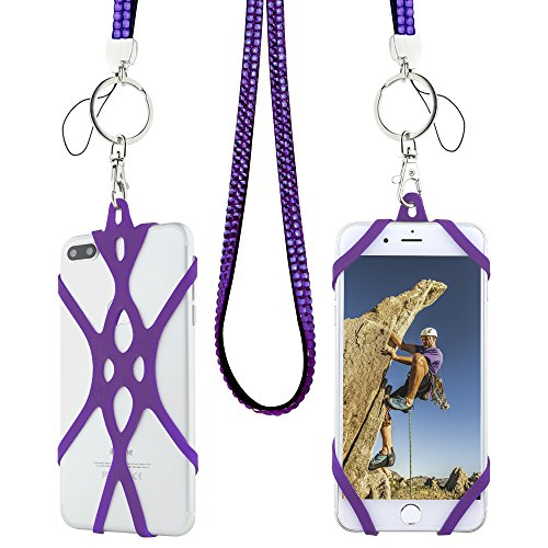 Phone Strap Keychain (Cell Phone Lanyard Strap, Gear Beast Bling Fashion Universal Smartphone Case Cover Holder Lanyard Necklace Strap For iPhone X 8 7 6S 6 Plus Galaxy S9 Plus S9 S8 Plus S8 S7 Note 8 5 Jitterbug Smart & M)
