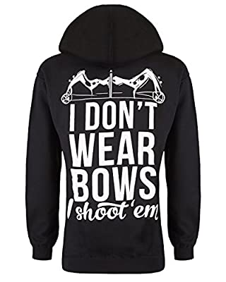 Cute n' Country Women's I Don't Wear Bows I Shoot 'Em Hoodie