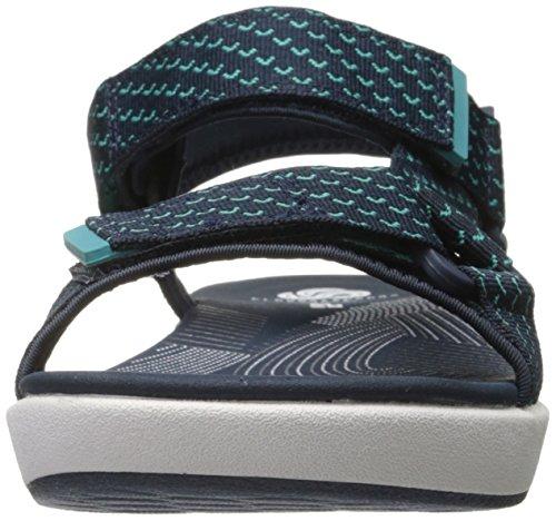 Clarks Womens Brizo Cady Sandalo Piatto Blu Scuro