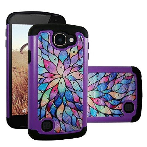 Cell Phones Cases LG K4 LG Rebel LTE case LG Optimus Zone 3 Verizon LG  Spree Cricket Unique Design Drop Protection Shock Resistant Crystal Jewel  Bling