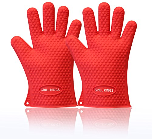 Barbecue Gloves Resistant Waterproof Silicone