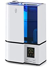 Humidifiers, TaoTronics 4L Cool Mist Humidifier, LED Display for Home Bedroom, Baby Room, Adjustable Mist and Humidity Levels, Sleep Mode, Timer, 4L/1.06 Gallon Large Capacity, 360°Nozzle, 110V