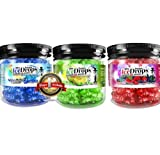 3 Pack - Blue Mother F*#k3R, Red Melon, Mint 50G Ultra Premium Beamer Ice Drops ¨ Hookah Shisha Smoking Gel. Each bowl lasts 2-4 Hours! USA Made, Huge Clouds, Amazing Taste! + Beamer Sticker. Better Taste & Clouds than Tobacco! 2-3 bowls per Jar!