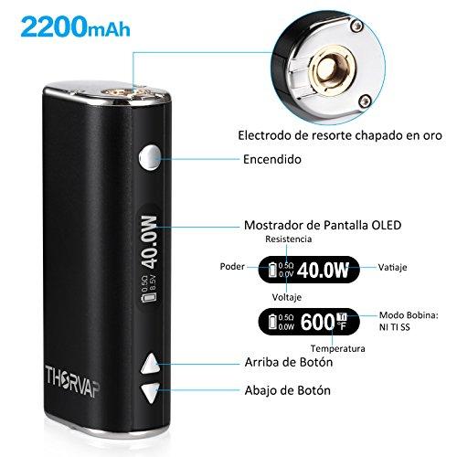 Cigarrillo Electronico, THORVAP® Ebox 40W Kit| 2ml Tanque de Relleno a Tope| Sub Ohm 0.5ohm| Control de flujo de aire Atomizador| OLED Box Mod 7w-40w, ...