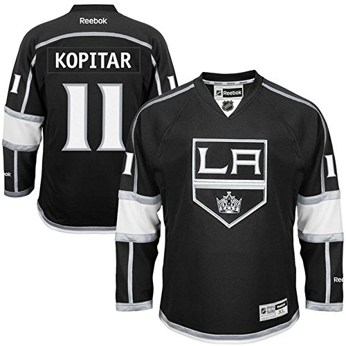 NHL Los Angeles Kings 11 Anze Kopitar Men's Premier Jersey Black color Size S