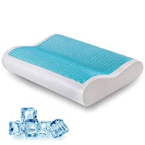 COMFORT & RELAX Cool Gel Memory Foam Contour Pillow for Sleeping Neck Support, Standard, 1-Pack