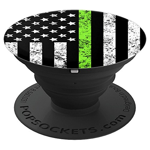 Conservation Thin Green Line Flag Wildlife Officer Gift - PopSockets Grip and Stand for Phones and Tablets -