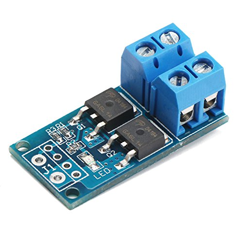 - DROK 200203 DC 5-36V 400W Dual Large Power MOS Transistor Driving Module, FET Trigger Switch Board, 0-20KHz PWM Electronic Switch Control, DC Motor Speed Controller