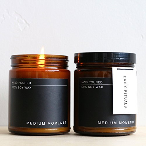 Medium Moments Hand Poured 8 Ounce Soy Wax Candle...