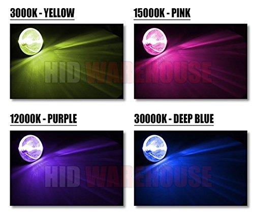 Blue Violet, also fit 9011,9055,9145,HB3,H12 Xentec 9005 12000K HID xenon bulb x 1 pair bundle with 2 x 35W Digital Ballast