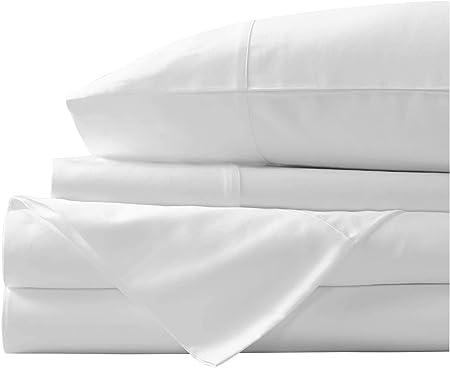 Juego de sábanas de algodón egipcio de 400 hilos, juego de sábanas de algodón con grapas
