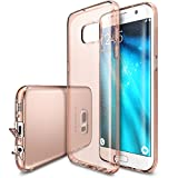 (US) Ringke [Air] Compatible with Galaxy S7 Edge Case Ultimate Ergonomic Resilient Weightless as Air, Extreme Featherweight TPU Scratch Resistant Protective Cover for Samsung Galaxy S7 Edge – Rose Gold