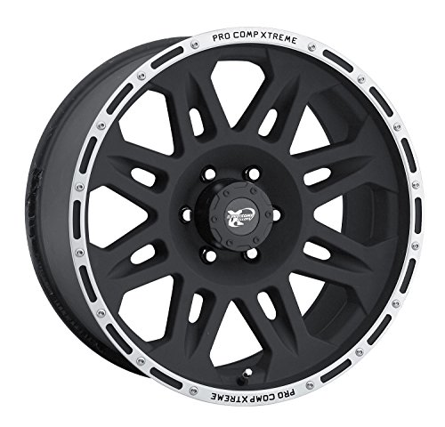 Pro Comp Alloys Series 05 Flat Black Wheel with Machined Flange (17x8 Alloy 5 Spoke)