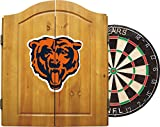 Imperial Officially Licensed NFL Merchandise: Dart Cabinet Set with Steel Tip Bristle Dartboard and Darts, Chicago Bears