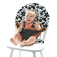 My Little Seat Coco Snow Travel Chair, Black/White/Orange