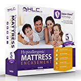 HLC.ME 100% Waterproof & Bed Bug Proof Encasement - Breathable - Dust Mite Proof Mattress Protector - 5 Year Warranty - Queen Size