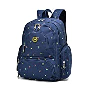 Imyth Large Capacity Baby Bag Travel Diaper Backpack Fit Stroller, Blue Flower