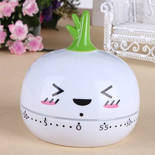 BoatShop Cartoon Animal Kitchen Cooking Timer 60 Minutes Bake Clock, Garlic by BSK (Image #4)