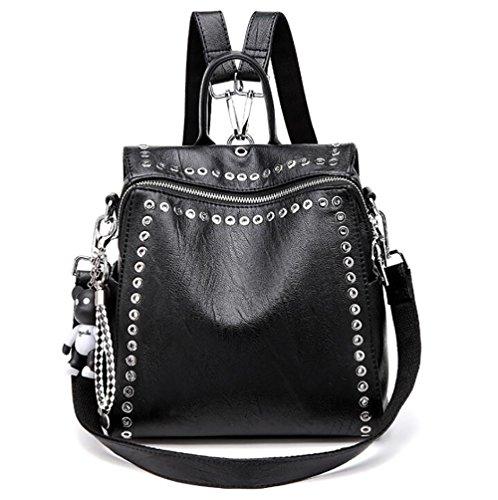 Multi Women's Backpack Handbag Fashion Casual 13 Soft function 27cm Leather pu 27 Bag dtqwB