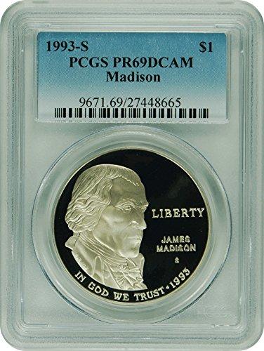 1993 S Madison Madison Commemorative Dollar DCAM PCGS PR-69