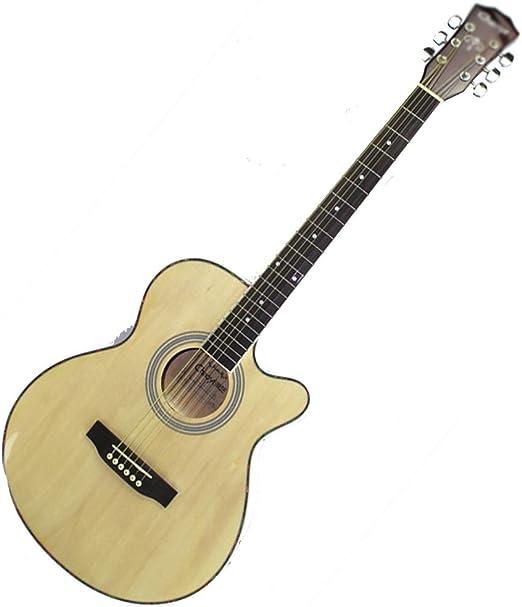 ZJJXD Guitarra Pop Popular, Panel ELM De 40 Pulgadas, Diapasón De Palisandro, 22 Perillas Semicerradas, Paquete De Cartón, Palanca De Ajuste Incorporada: Amazon.es: Hogar