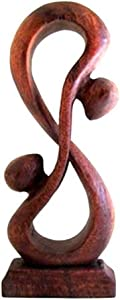 OMA Infinity Symbol Sign Decor Wooden Sculpture Love Statue Unity and Hug Forever Indivisible Love Wooden Abstract Art Home Decor Gift Statue