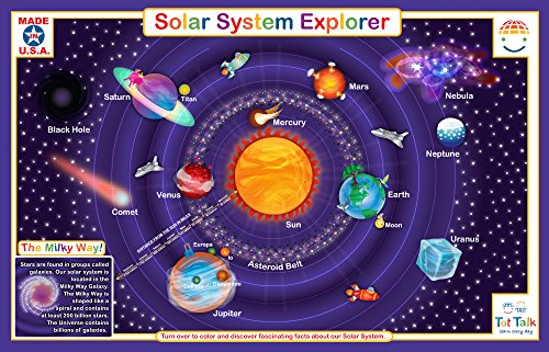 Talking Solar System - Tot Talk Solar System Educational Placemat for Kids