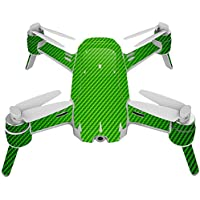Skin For Yuneec Breeze 4K Drone – Lime Carbon Fiber | MightySkins Protective, Durable, and Unique Vinyl Decal wrap cover | Easy To Apply, Remove, and Change Styles | Made in the USA
