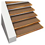 House, Home and More Set of 15 Skid-resistant Carpet Stair Treads – Toffee Brown – 8 In. X 30 In. – Several Other Sizes to Choose From