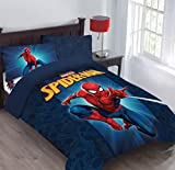 Marvel Spiderman Friendly Neighborhood Twin Comforter Set with Fitted Sheet