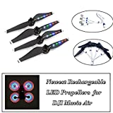 #1: STARTRC Mavic Air LED Propeller 2 Pairs Rechargeable LED Flash Propellers for DJI Mavic Air with the USB Cable (Mavic air led props, black)