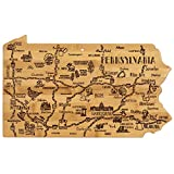Celebrate life in The Keystone State with the Totally Bamboo Pennsylvania State Destination Bamboo Serving and Cutting Board. This beautifully crafted board is shaped in the outline of the great state of Pennsylvania and features fun, laser-e...