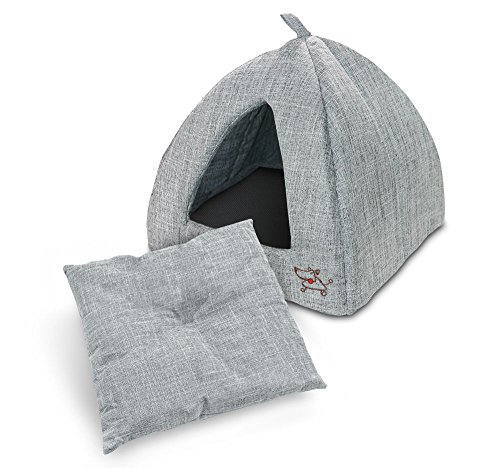 Best Pet Supplies Linen Tent Bed for Pets - Grey, X-Large