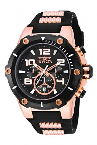 Gold Speedway Rose (Invicta Men's 17201 Speedway Analog  Japanese Quartz Black & 18k Rose Gold Ion-Plated Stainless Steel Watch)