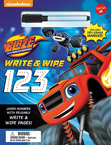Nickelodeon's Blaze and the Monster Machines Write & Wipe 123: Learn numbers with reusable write & wipe pages!