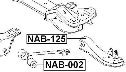 Arm Bushing Front Torsion For Nissan 5447615U00