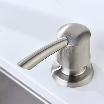 GICASA Bathroom Kitchen Sink Soap Dispenser, High Capacity 320ML ABS Bottle Soap  Dispenser Brushed