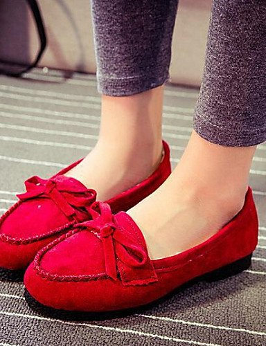 De us7 Zq 5 5 Exterior Casual Rojo Beige Marrón Gyht Zapatos negro Plano Comfort Mocasines Amarillo Tacón Brown us7 5 Uk5 Eu38 Punta Redonda Mujer Tejido Cn38 EpUpFHrq